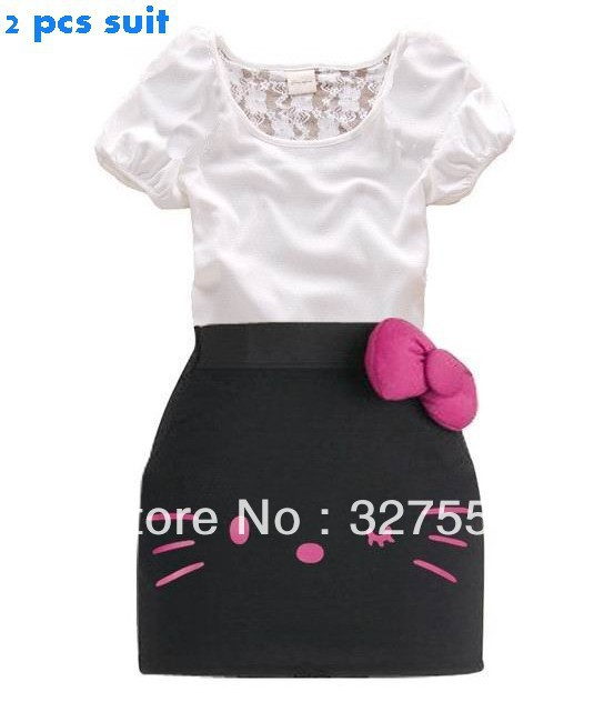 2013 children 39 s cute design summer clothing kids t shirt for Hello kitty t shirt design