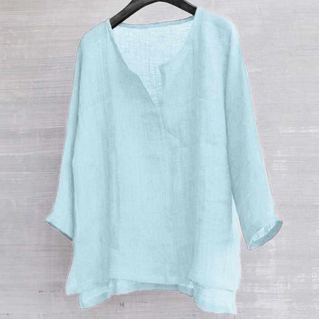 2019 Gaya Baru Hot Sale Pria Ulasan Bernapas Nyaman Warna Solid Lengan Panjang Longgar Kasual T Shirt Neu Anziehen Herrenbekleidung