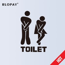 New 1Pcs Funny Toilet Entrance Sign Decal PVC Stickers Wall Men and Women Door Paste Decorations Hot Sale