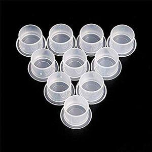 Image 5 - 1000 pièces en plastique tatouage encre tasses casquettes 17mm 14mm 11mm 20mm clair auto debout encre casquettes tatouage Pigment tasses approvisionnement pour lencre