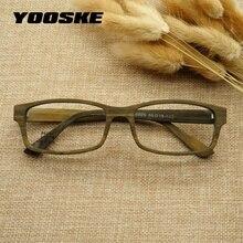 YOOAKE Винтаж Имитация древесины зерна Eeyglasses рамки для женщин мужчин ретро квадратные очки рамки высокое качество прозрачные линзы очки