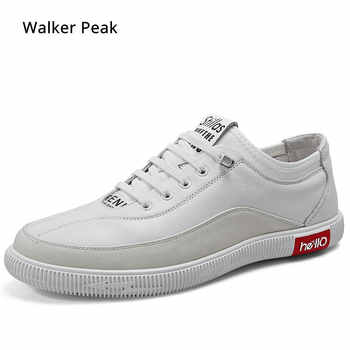 Brand Sneakers Genuine Leather Men Casual Shoes Slip on Breathable Soft Autumn Flats Shoes Simple Style Fashion Walker peak - DISCOUNT ITEM  54% OFF All Category