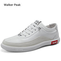 Brand Sneakers Genuine Leather Men Casual Shoes Slip on Breathable Soft Autumn Flats Shoes Simple Style Fashion Walker peak