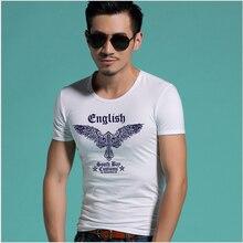 T Shirt Men 2016 Brand Short Sleeve Hip Hop Male Printed Wing T-Shirts Mens Casual Mens Funny Tshirt Slim Tee Tops 3XL