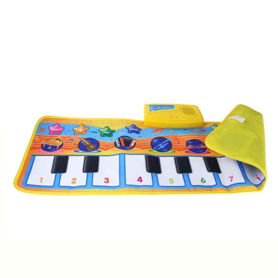 新しいタッチプレイ鍵盤楽器音楽歌うジムカーペットマットベストキッズベビーギフトドロップシップy720