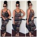 2016 Mujeres elegantes de Las Señoras Clubwear V Cuello Partido Bodycon Playsuit body mamelucos womens jumpsuit trajes de verano
