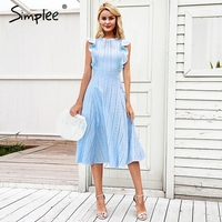 Simplee Elegant cotton embroidery women dress Ruffle A line white dress Lining hollow out zipper party dress robe femme ete 2018