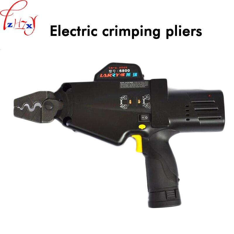 1 PC Palmare Pressione Elettrica Pinze 6800 Collegamento Naso Strumento Naso Rame Terminale Nudo di Energia Elettrica Premendo Strumento 10.8 V