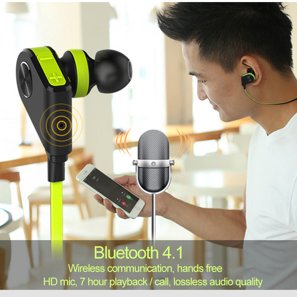 Leegoal Bluetooth 4.1 Headset Wireless Sport Running HIFI Stereo Sound Earphone for iPhone 7 Plus IOS Android Mobile Phone leegoal mini earphone headset car charger 2 in 1 driver wireless bluetooth earphone for apple smart phone ios android