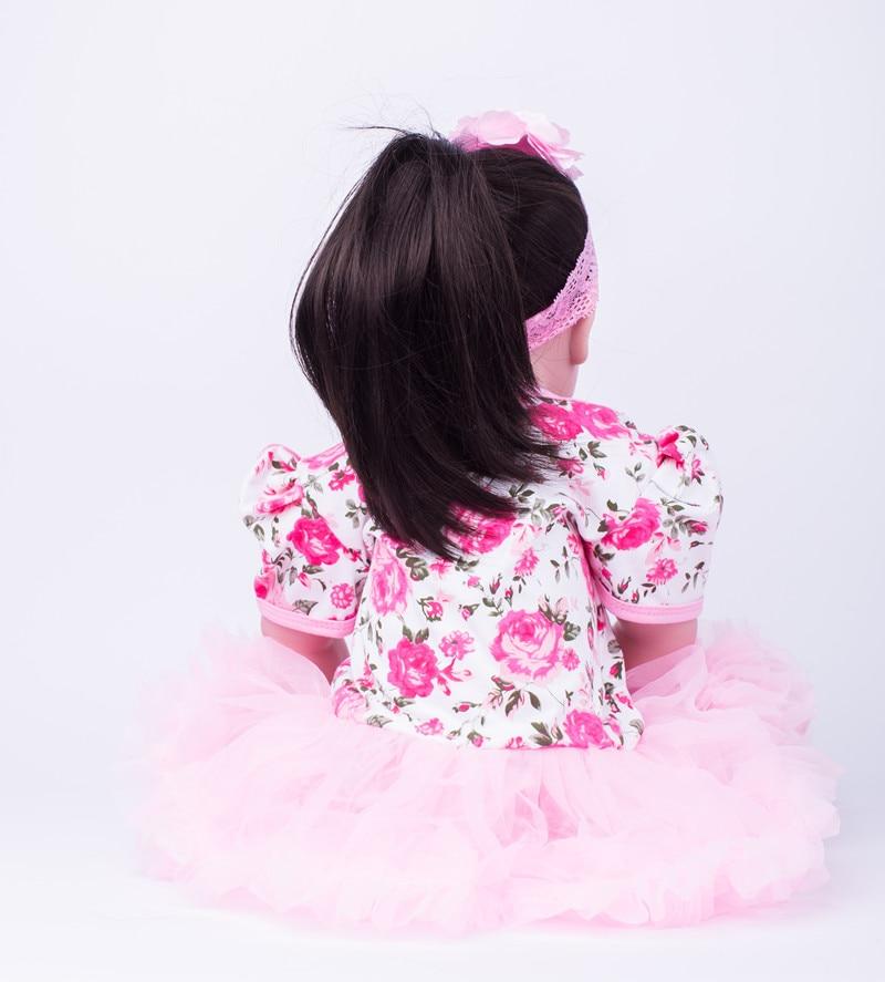 55 cm silikon Reborn Babies lalki dziewczyna Brinquedos maluch księżniczka dla dzieci lalki dziecko dzieci prezent urodzinowy przed snem dom zabaw zabawki w Lalki od Zabawki i hobby na  Grupa 3
