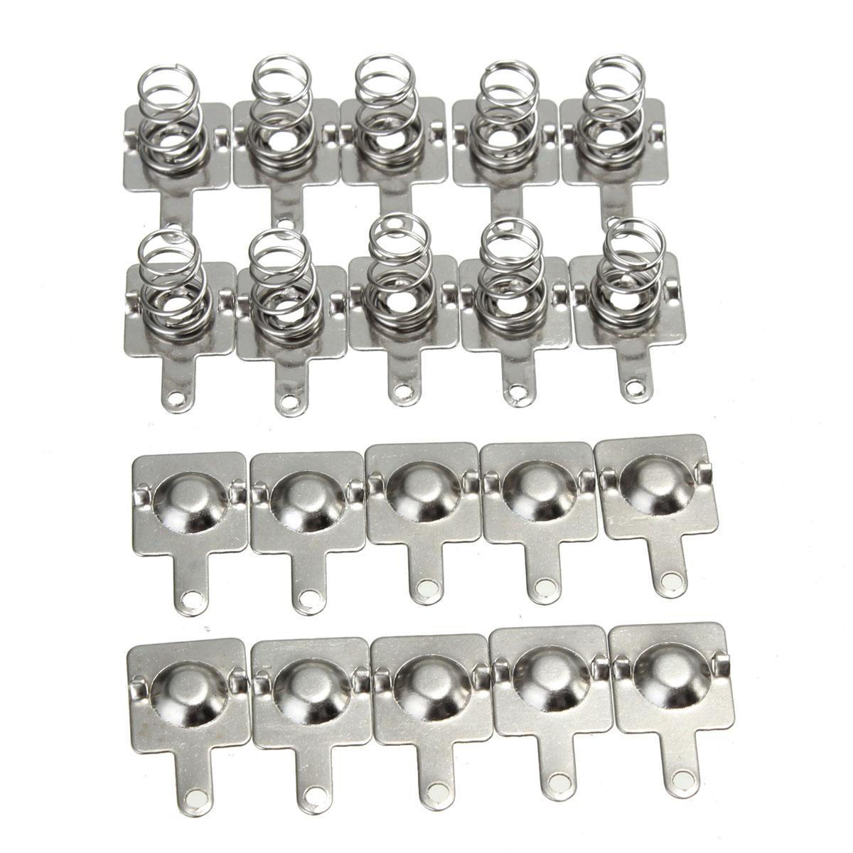 20pcs Replacement Metal Batteries Spring Contact Plate Silver For AA AAA Batteries metal aa battery connecting spring lamination contact plate 30 pcs