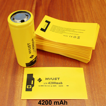 100pcs/lot Lithium Battery Casing Sleeve Pvc Plastic Capacity Label Shrink Film 26650 Special Insulation 4200mah