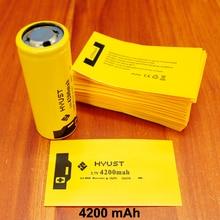 100pcs/lot Lithium Battery Casing Sleeve Pvc Plastic Capacity Label Shrink Film 26650 Special Insulation 4200mah