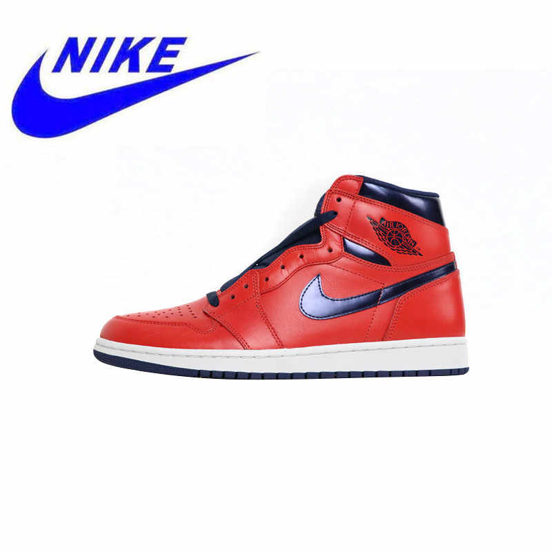 san francisco 9db3b d7eda Detail Feedback Questions about New Nike Air Jordan 1 Retro OG High  Letterman   Black Elephant Print Men s Skateboarding Shoes Outdoor High  Quality Sneakers ...