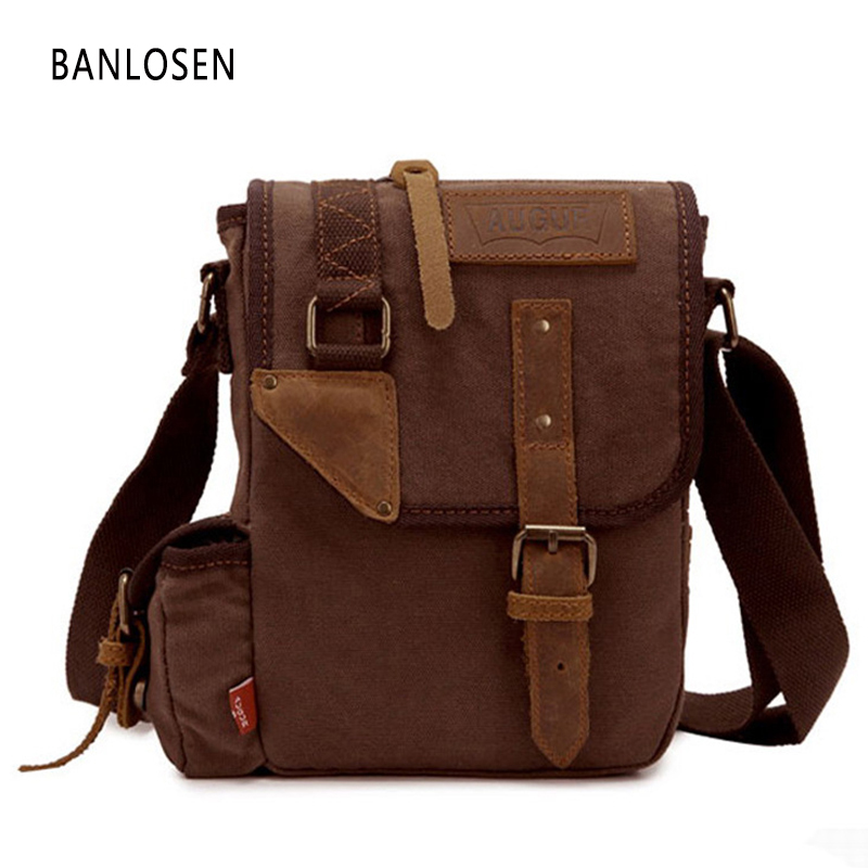 Vintage Canvas Men Crossbody Bag Shoulder Messenger Bags Handbag Male Casual Military Bag YS1335 augur new men crossbody bag male vintage canvas men s shoulder bag military style high quality messenger bag casual travelling