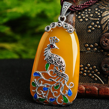 Fancy&Fantasy Luxury Color Peacock Necklaces For Silver 925 Women Pendant Necklaces Jewelry Brand Accessories N-152