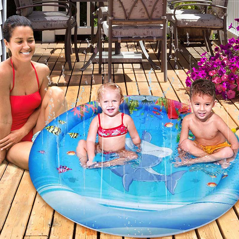 Lawn Beach Play Game Sprinkler Cushion Water Spray Pad Summer Children Outdoor Water Spray Mat Family Outdoor Activities Baby Pl