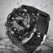 SANDA Hombres Relojes de Marca de Lujo de Los Hombres de Cuarzo Horas Analógico Digital Deportes Reloj de Los Hombres Del Ejército Militar Reloj de Pulsera Relogio masculino
