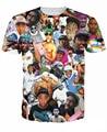 Mulheres Homens 3D tee T-Shirt selvagem Paparazzi rapper Tyler o Criador Tyler Okonma T Lobo Ace Thurnis Haley Haley tees Tops
