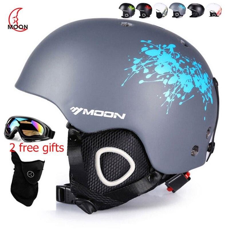 Lune Ski casque automne hiver adulte hommes enfants Snowboard planche à roulettes équipement de Ski Sports sécurité snowHelmets avec des cadeaux