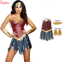 2018 Wonder Woman Cosplay Costume Adult Justice League Superhero Costume Christmas Halloween Sexy Dress Up Dress Diana Cosplay