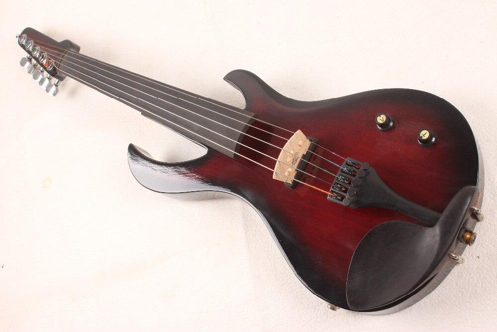 5 струн электрическая скрипка новая 4/4 гитара с изображением пламени форма твердой древесины мощный звук Лада 6-6