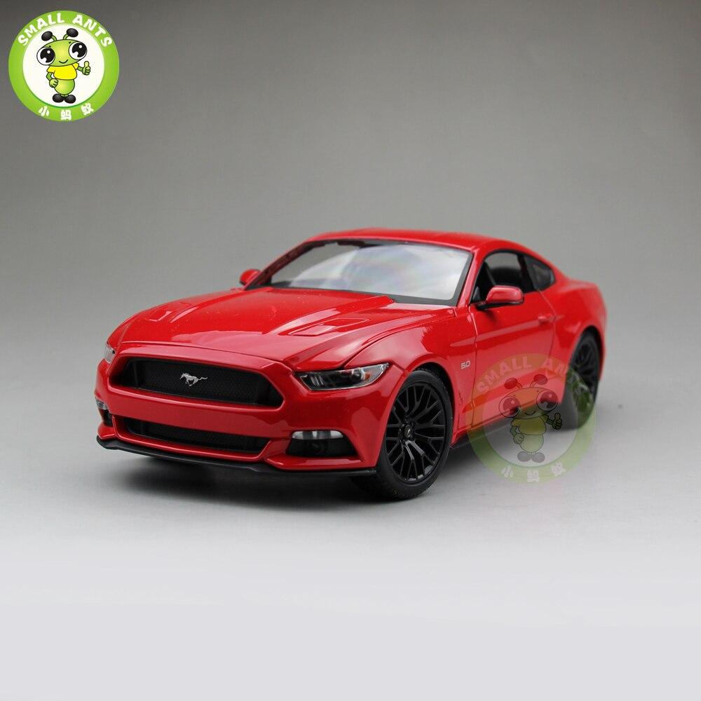 1/18 2015 Ford Mustang GT 5.0 modèle de voiture moulé sous pression pour cadeaux collection hobby maisto 31197 rouge