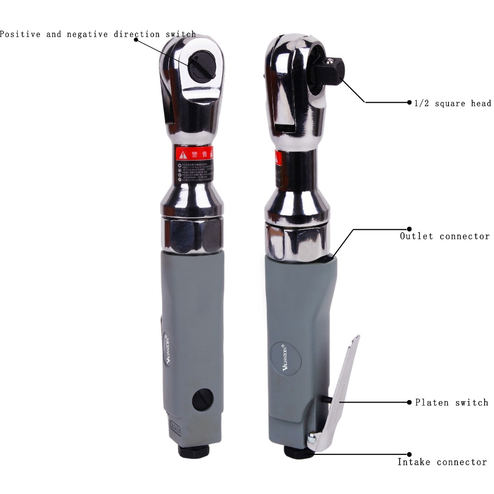 VALIANTOIN Pneumatic Wrench Big Torque Heavy Duty Right Angle Torque Strong Fast Big Fly Torque Pneumatic Tools