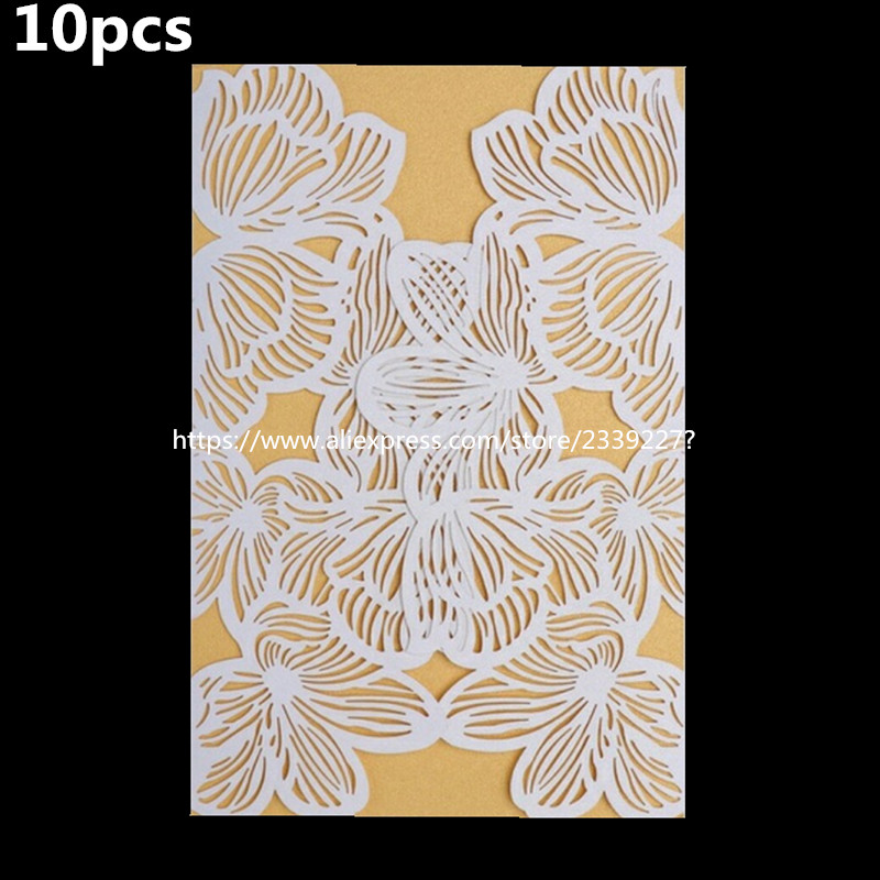 Cards & Invitations 30pcs Laser Cut Delicate Carved Flower Romantic Wedding Invitation Baby Shower Kids Birthday Party Invitation Card 7z-sh072-30