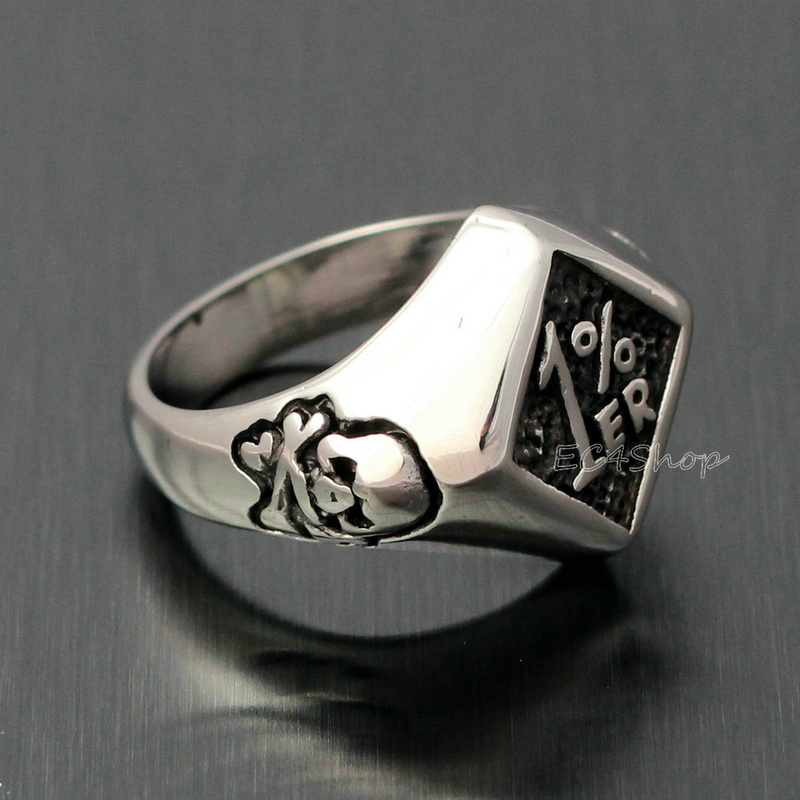 Details about  /Men/'s Vintage Stainless Steel 1/% er One Percenter Outlaw Ring Motorcycle Club