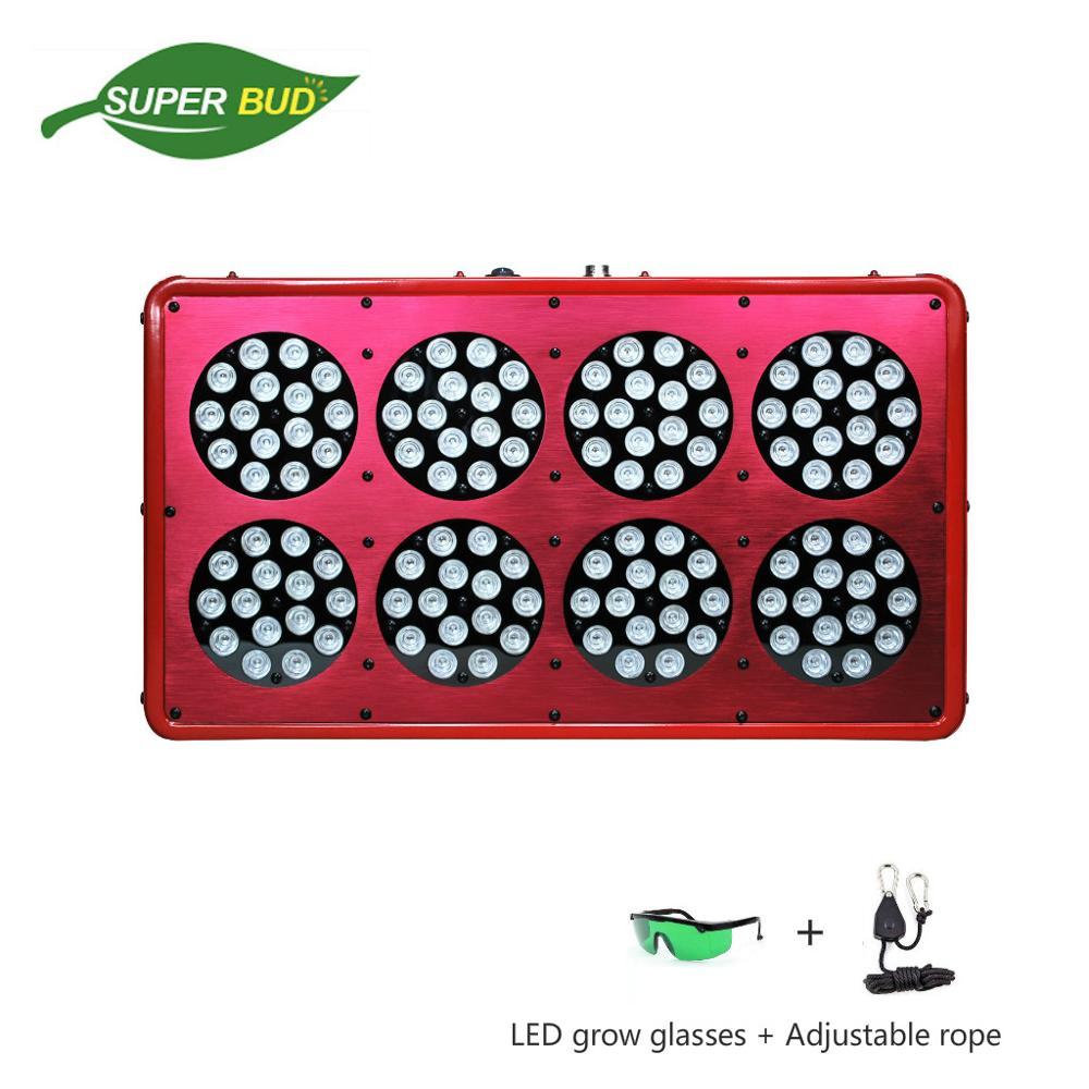 Apollo 8 600W LED tumbuh cahaya spektrum penuh 10bands Merah 660nm Blue 450nm tumbuhan hidroponik tumbuh lampu cultivo dalaman herba bunga