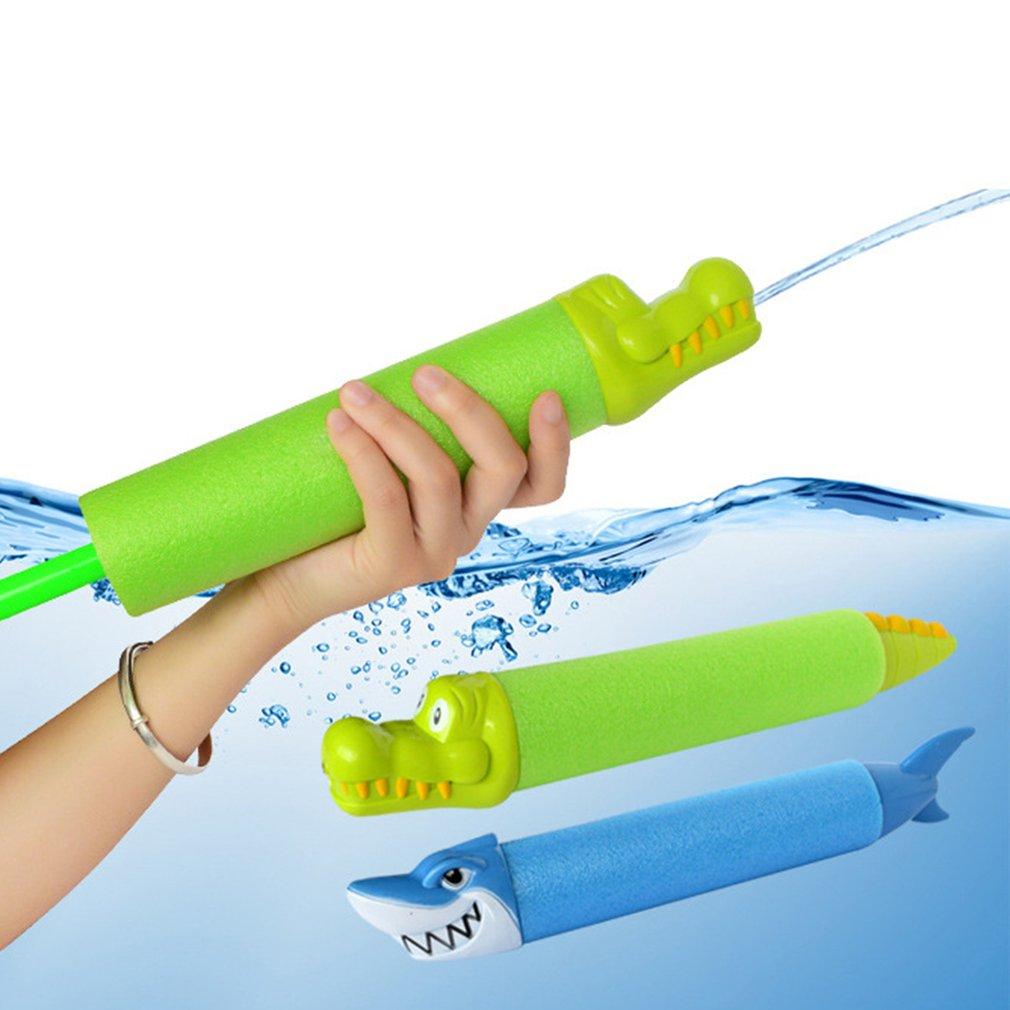 33cm Summer Water Gun Toys Pistol Blaster Shooter Outdoor Swimming Pools Shark Crocodile Squirter Foam Soake Water Gun For Kids