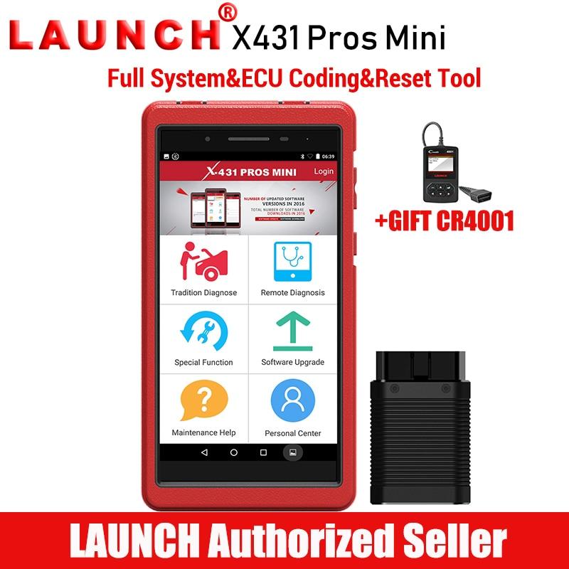 Lançamento X431 PRÓS Mini Car Diagnóstico Scanner Automotivo Ferramenta de Diagnóstico de Digitalização ECU Codificação Autoscanner PK X 431 Mini Pro V 8