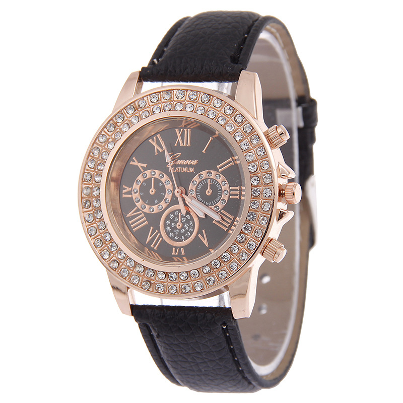 Relogio Feminino Fashion Luxury Watch Women Leather Quartz Analog Women Watch Diamond Casual Ladies Watches Quartz Wrist Watch cute cat watch women pu leather wrist watches vogue ladies casual analog quartz watch 2017 new fashion clock relogio feminino