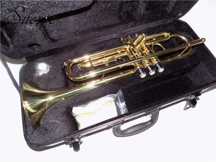 Купить с кэшбэком B flat Bb Trumpet musical instruments for Beginners Brass Trumpets Lacquer silver plated with case mouthpiece