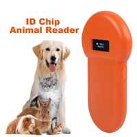 ISO 11784/85 LCD Portable USB Animal ID Card Reader Display For Dog Cat LCD Screen Animal Microchip Scanner Tag Barcode Scanner