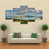 5 Panels Seaview Scenery Canvas Spray Print Painting Modern Canvas Wall Art for Wall Pcture Home Decor Artwork