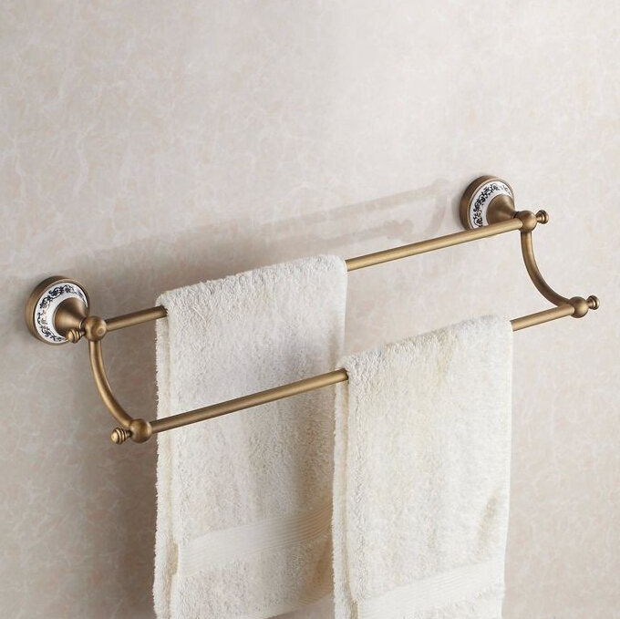 """Vintage Ceramic Towel Bar: Free Shipping(24"""",60cm) Double Towel Bar With Ceramic"""