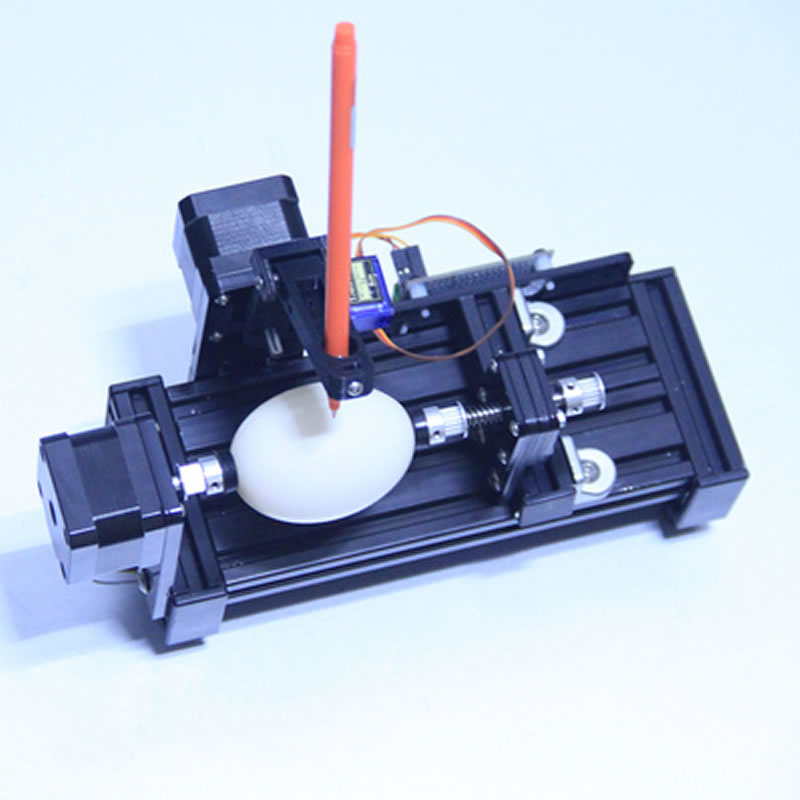 DIY LY Eggdraw Eggbot Egg-drawing Robot Draw Machine Spheres Drawing Machine Drawing On Egg And Ball For Education Children