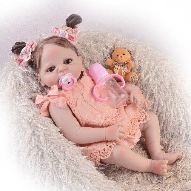 57 Cm Bebes Reborn Menina Npk Bebe Reborn Munecas Cuerpo Completo Silicona Juguetes Nina Princesa Muneca Juguete Metoo