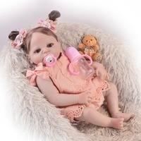 57cm bebes reborn menina NPK Baby Reborn Dolls Body Full Silicone toy toys New born baby girl princess doll toy gift bonecas
