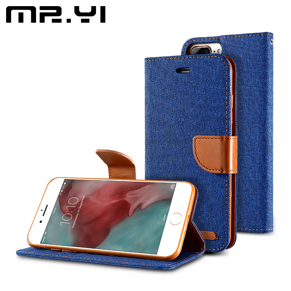 MR.YI Luxury Leather Phone Cases For iPhone X 8 7 6S 6 Plus 5 5S SE Flip Card Holder Wallet Case Cover For iPhone X 7 6 6S Plus