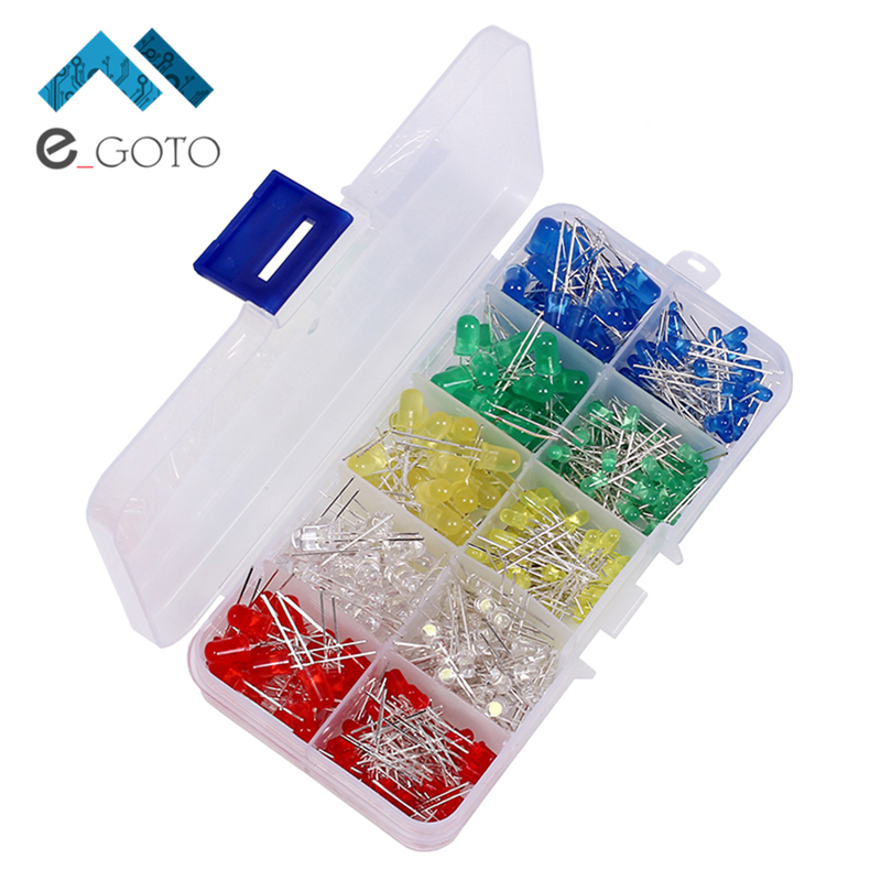 375pcs 3mm 5mm LED Kit Mixed Color Red Yellow Blue Green White Precise Light Emitting Diodes DIY Led Diode Light Lamp