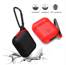 Soft Silicone Cover For Apple Airpods Waterproof Shockproof Protector Case Sleeve Pouch For Air Pods Earphone With Hook(China)
