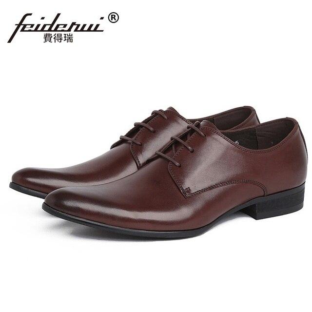 db8b3a96 Estilo italiano Hombre Punta estrecha Formales Zapatos de Vestir de Boda  Nupcial Derby Oxfords hombres de