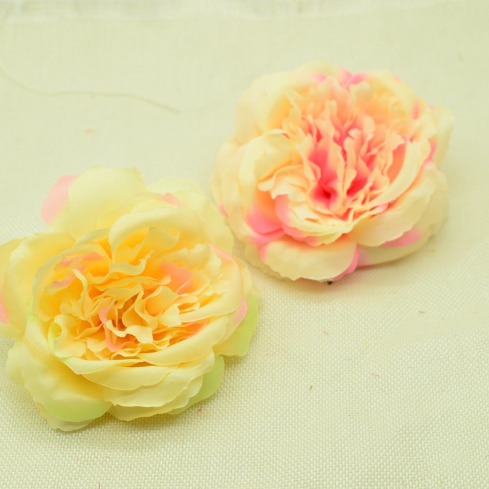 10pcs Silk peonies artificial flowers for home wedding decor household products diy christmas wreath a cap fake plastic flower Lahore