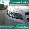 Estilo do carro caso Da Lâmpada de Cabeça para Chevrolet Malibu 2012 2013 Faróis LED Farol DRL Lente Feixe Duplo Bi-Xenon Acessórios HID
