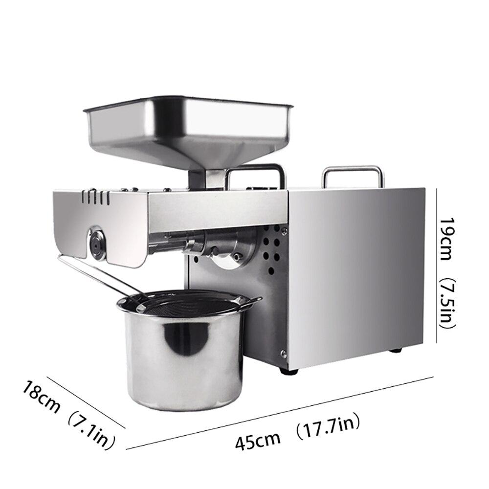 1 pièces en acier inoxydable presse à huile machine multi-fonctionnelle expulseur d'huile pour usine prix presse à huile outil - 2