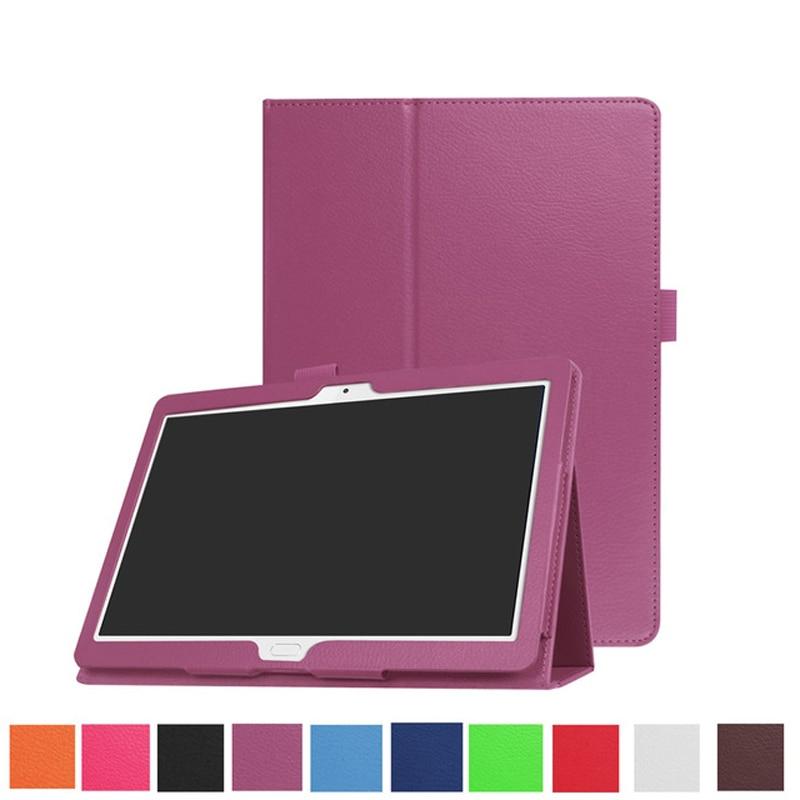 Case For Huawei Mediapad M3 Lite 10 Litchi Pattern PU Leather Stand Cover Case For Huawei Mediapad M3 Lite 10.1 BAH-W09 BAH-AL00