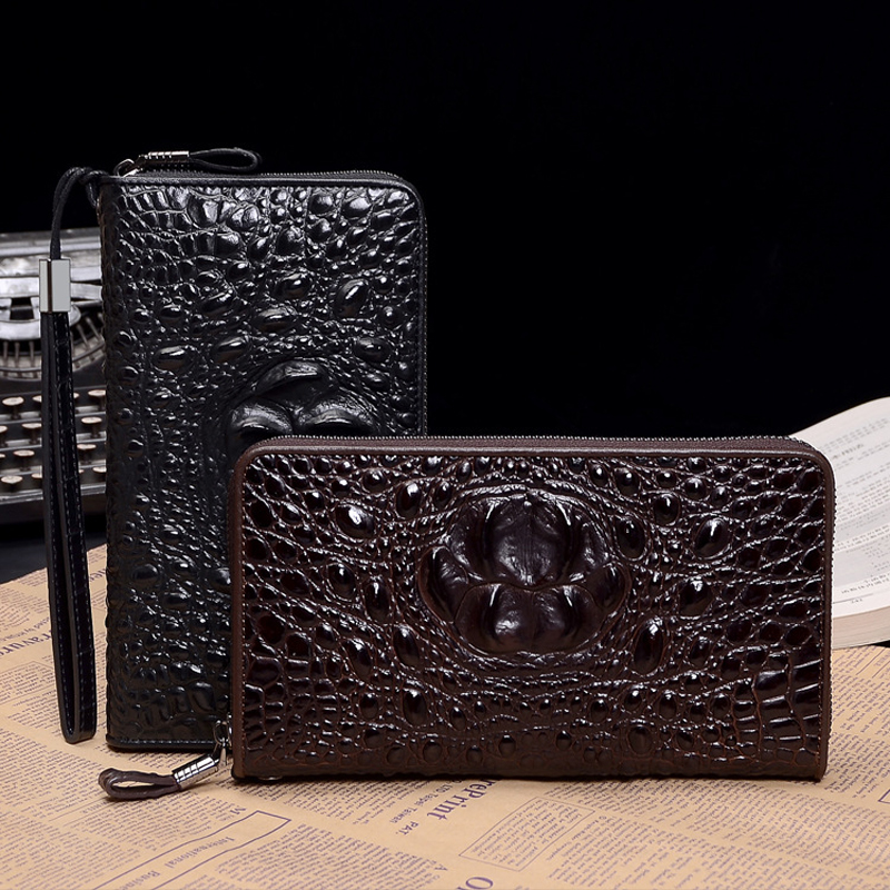 New Arrival Cow Leather Wallets Men Clutch Money Handbag Crocodile Genuine Leather Wallet Sexy Cards Holders Coin Purse Bolsa new arrival genuine leather wallets women card holders purse 2017 sexy ladies clutch money bag leather handbags